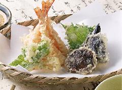 天ぷらや魚料理など和食に
